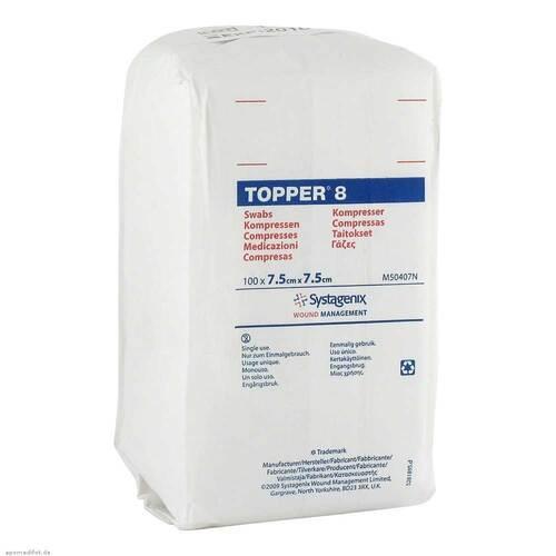 Topper 8 Kompresse unsteril 7,5x7,5 cm - 1