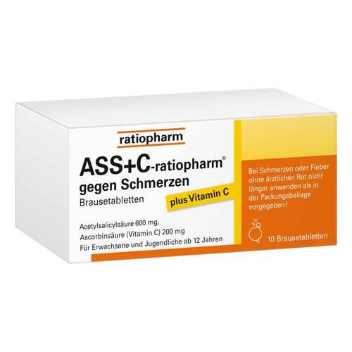 ASS + C ratiopharm gegen Schmerzen Brausetabletten - 1