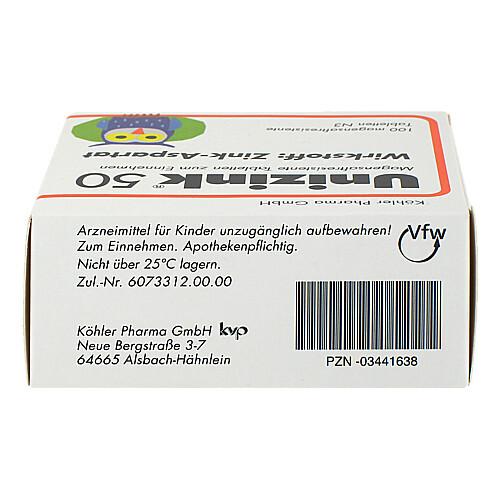 Unizink 50 magensaftresistente Tabletten - 2