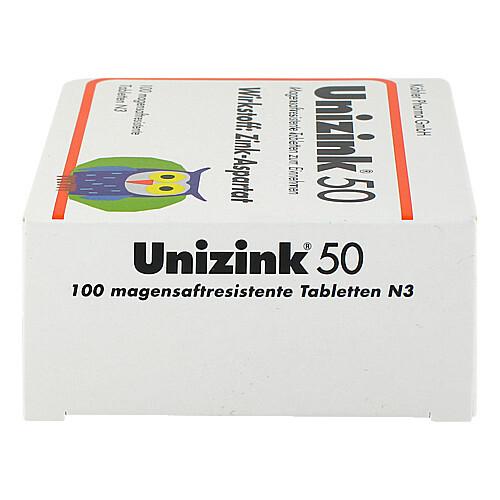Unizink 50 magensaftresistente Tabletten - 4