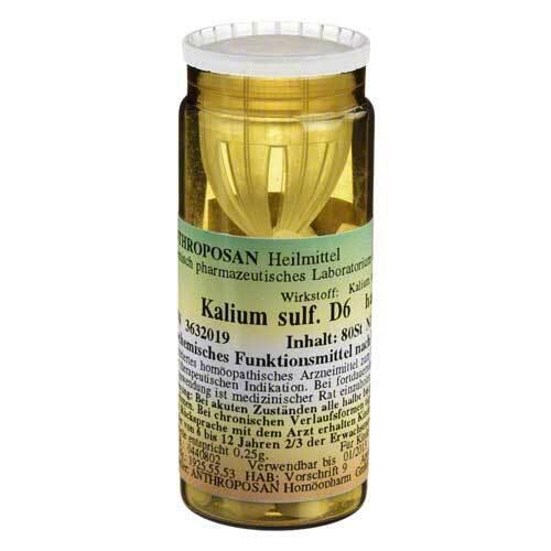 Kalium sulfuricum D 6 Schüßler Nr.6 Tabletten - 1
