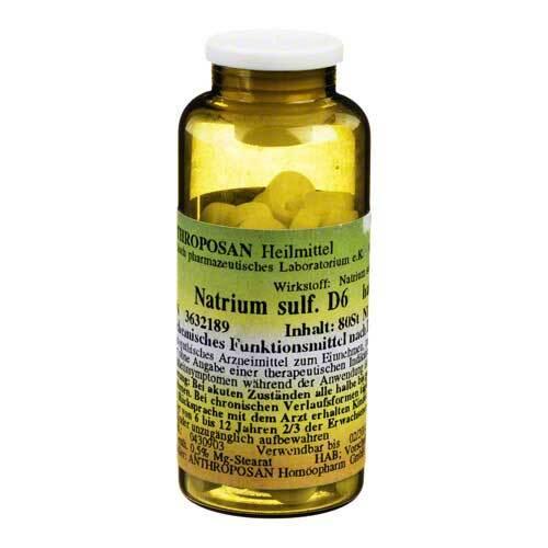 Natrium sulfuricum D 6 Schüssler Nr.10 Tabletten - 1