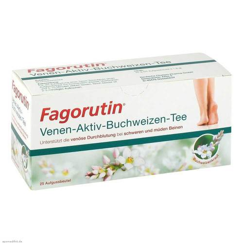 Fagorutin Venen-Aktiv-Buchweizen-Tee Filterbeutel - 1