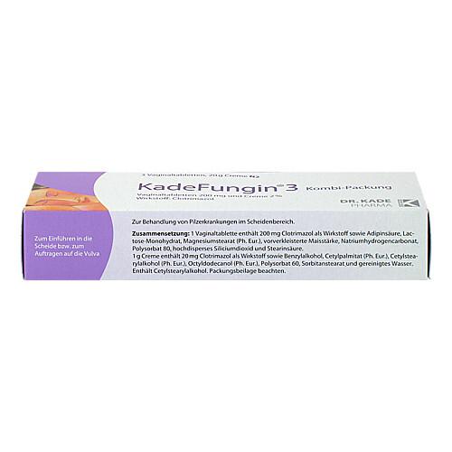 Kadefungin 3 Kombipackung 20 g Creme + 3 Vaginaltabletten - 3
