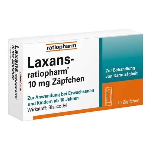 Laxans ratiopharm 10 mg Zäpfchen - 1