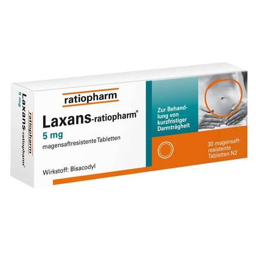 Laxans ratiopharm 5 mg magensaftresistent Tabletten - 1