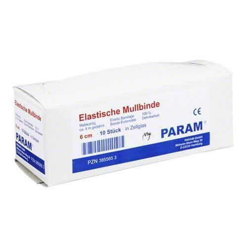 Mullbinden elastisch 6 cm mit Cellophan - 1