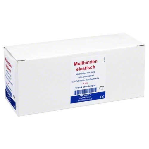 Mullbinden elastisch 6 cm ohne Cellophan - 1