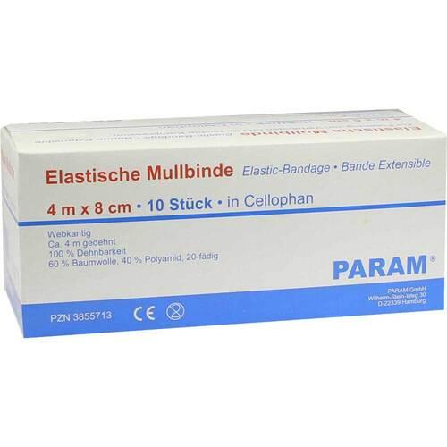 Mullbinden elastisch 8 cm mit Cellophan - 1