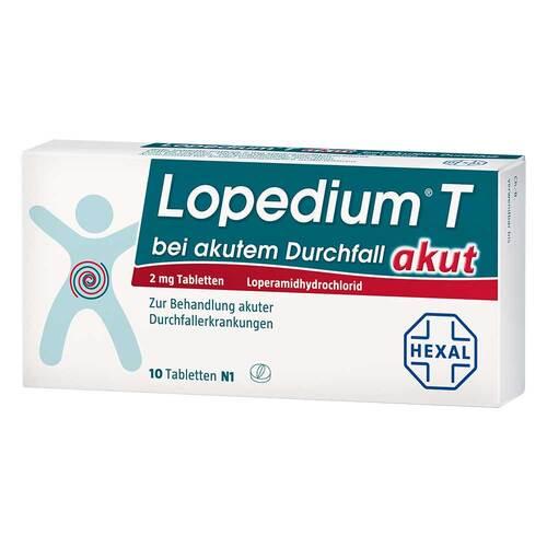 Lopedium T akut bei akutem Durchfall Tabletten - 1
