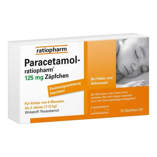 Paracetamol ratiopharm 125 mg Sgl.-Suppositorien - 1