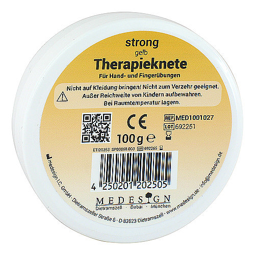 Therapieknete strong gelb - 1