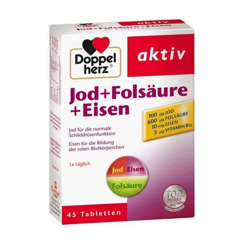 Doppelherz Jod+Folsäure+Eisen Tabletten - 1