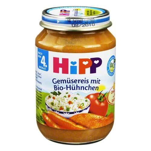 Hipp Menü n.d.4 Mon. Gemüsereis mit BioHüh. - 1
