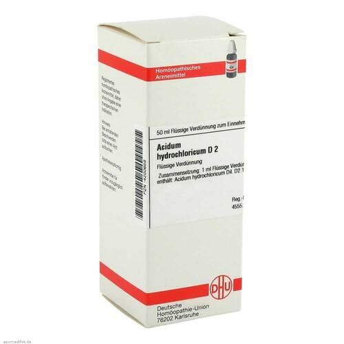 Acidum hydrochloricum D 2 Dilution - 1