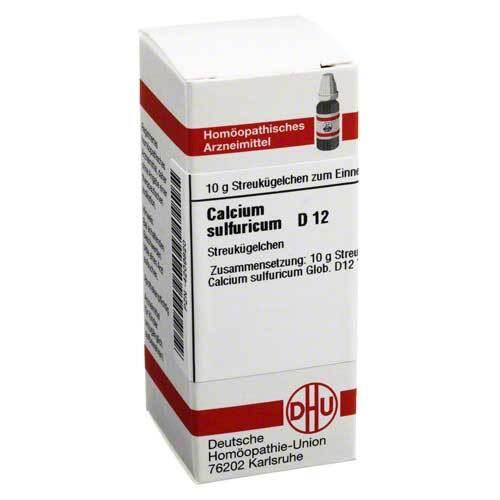 Calcium sulfuricum D 12 Globuli - 1
