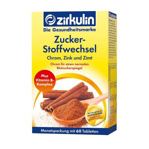 Zirkulin Zuckerstoffwechsel Zimt Plus Tabletten - 1
