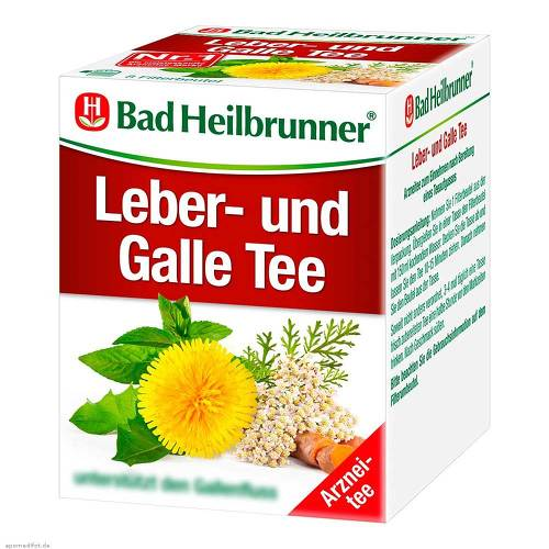 Bad Heilbrunner Tee Leber und Galle Filterbeutel - 1