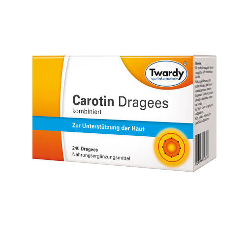 Carotin Dragees kombiniert - 1