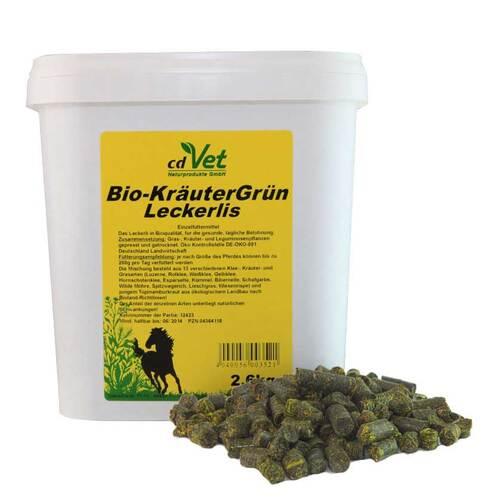 Bio Kräutergrün Leckerlis für Pferde - 1