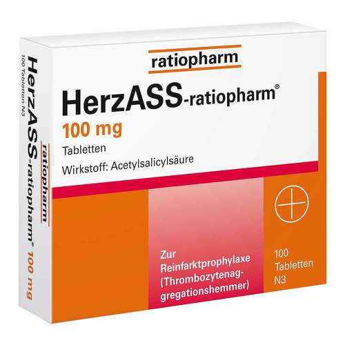 HerzASS ratiopharm 100 mg Tabletten - 1