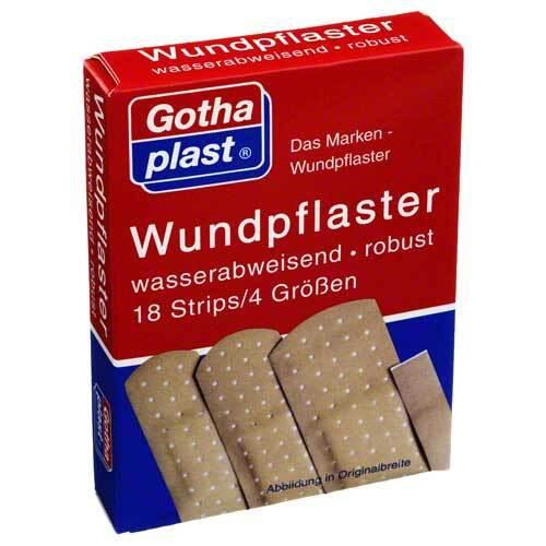 Gothaplast Wundpflaster wasserf.4 Größen - 1