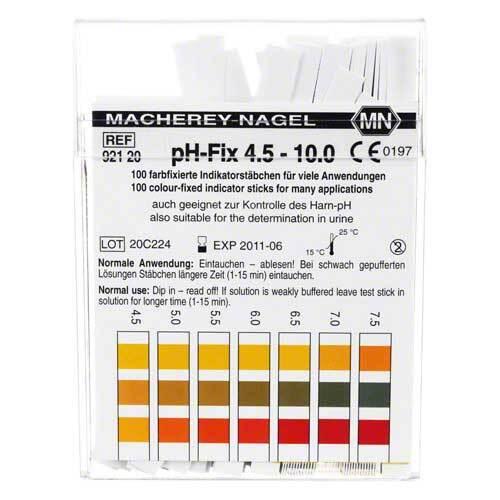 PH Fix Indikatorstäbchen pH 4,5 - 10 - 1