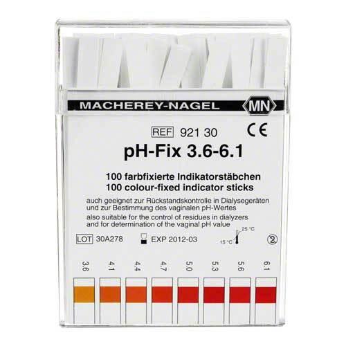 PH Fix Indikatorstäbchen pH 3,6 - 6,1 - 1