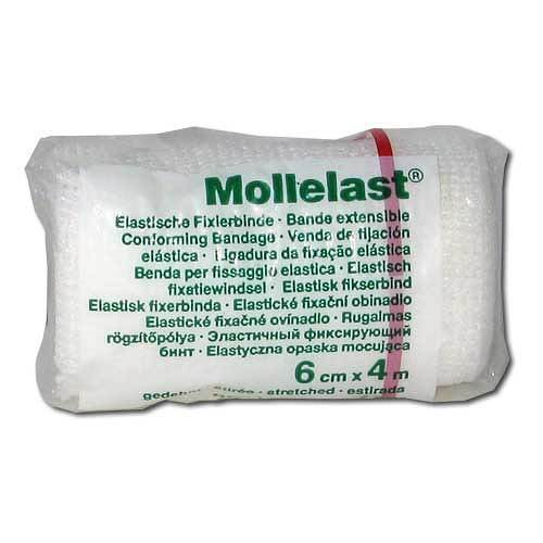 Mollelast 6cmx4m weiß - 1