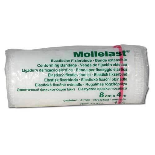 Mollelast 8cmx4m weiß - 1