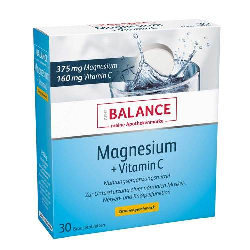 Gehe Balance Magnesium 375 mg + Vitamin C Brausetabletten - 1