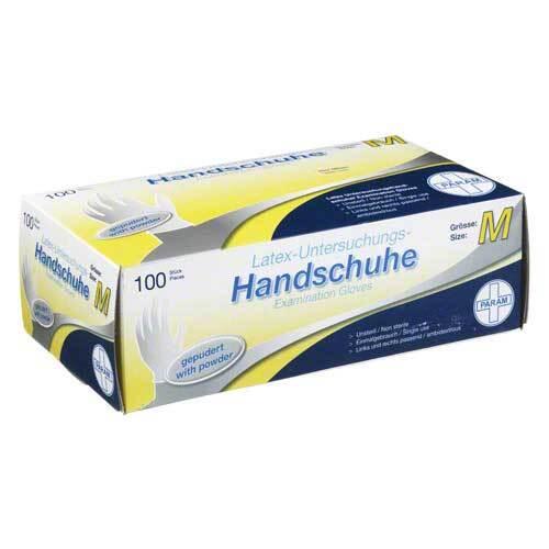 Handschuhe Einmal Latex gepudert M - 1