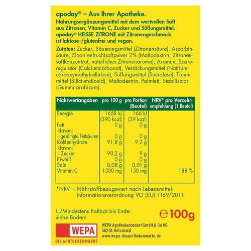 Apoday Heiße Zitrone Vitamin C Pulver - 2