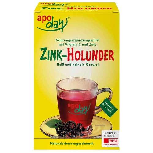 Apoday Holunder Vitamin C + Zink ohne Zucker Pulver - 1