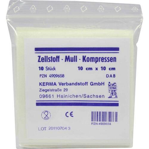 Zellstoff Mullkompressen 10c - 1