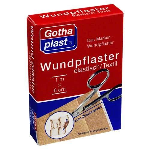 Gothaplast Wundpflaster elast 6 cm x 1 m geschnitten - 1