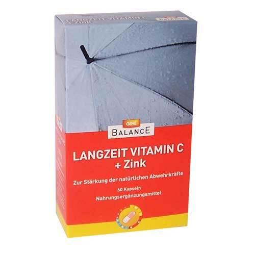 Gehe Balance Langzeit Vitamin C + Zink depot Retardkapseln - 1