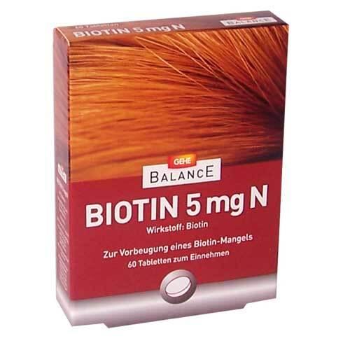Gehe Balance Biotin 5 mg N Tabletten - 1