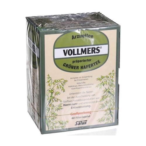 Vollmers präparierter grüner Hafertee Filterbeutel - 1