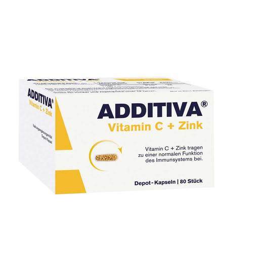 Additiva Vitamin C + Zink Depotkapseln Aktionspackung - 1