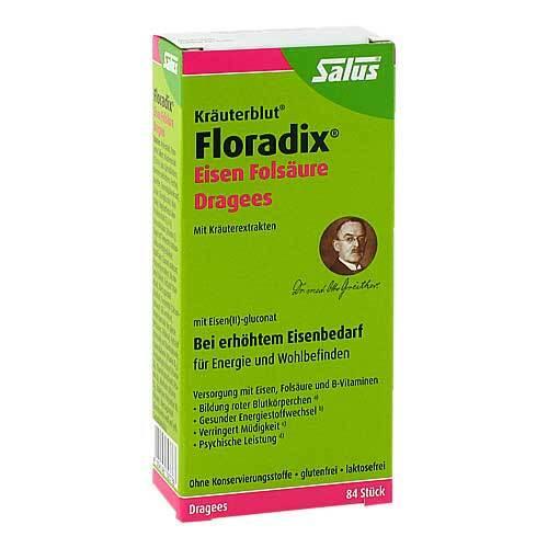Floradix Eisen Folsäure Dragees - 1
