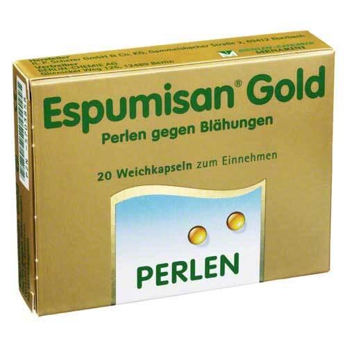 Espumisan Gold Perlen gegen Blähungen - 1