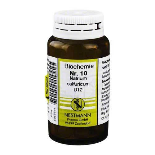 Biochemie 10 Natrium sulfuricum D 12 Tabletten - 1