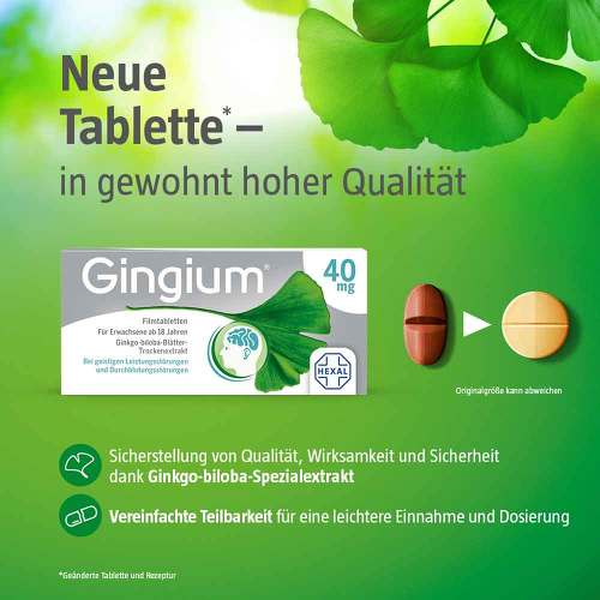 Gingium 40 mg Filmtabletten - 4