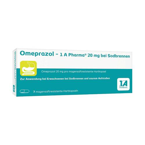 Omeprazol 1A Pharma 20 mg bei Sodbrennen Kapseln - 1