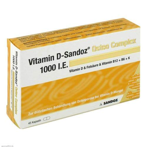Vitamin D Sandoz 1000 I.E. Osteo Compl.Hartkapseln - 1