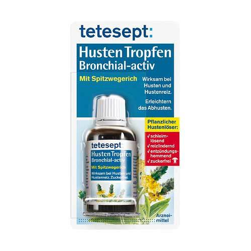 Tetesept Hustentropfen Bronchial-activ zuckerfrei - 1