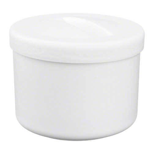 Prothesenbehälter weiß mit Deckel und Einsatz - 1