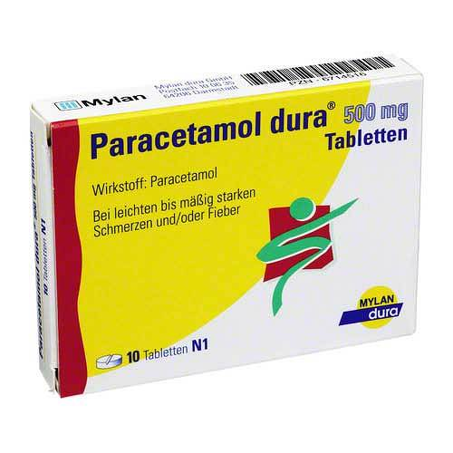 Paracetamol dura 500 mg Tabletten - 1