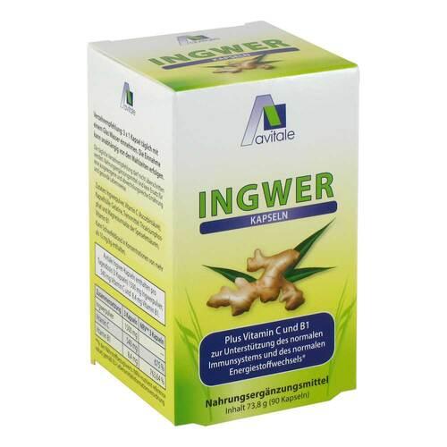 Ingwer 500 mg Kapseln + Vitamin B1 + C - 1